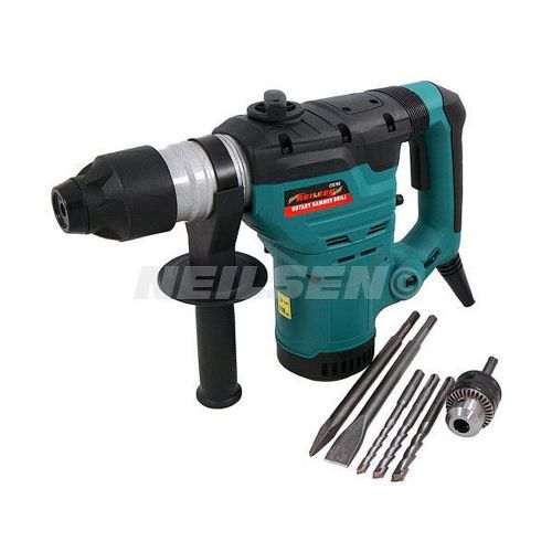 1200W Heavy Duty Rotary Sds Hammer Drill 240V With Chisels And In A Case